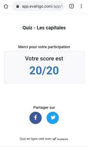 affichage - score quiz en ligne