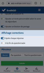 fonctionnalité - corrections quiz en ligne