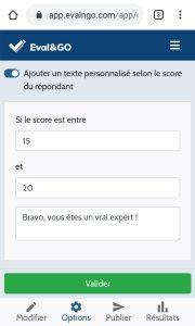 fonctionnalité - texte perso quiz en ligne